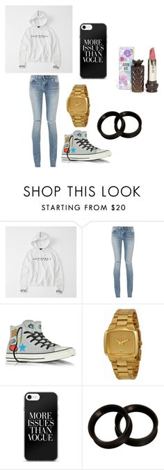 """""""Untitled #26"""" by brokenangel-eva on Polyvore featuring Abercrombie & Fitch, Yves Saint Laurent, Converse, Nixon and Anna Sui"""