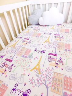Paris crib sheets Paris fitted crib sheets by BabyQuiltsbyRomiW