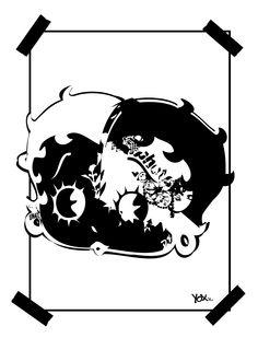 PouPouPIDOU ! By artist #YoXx #bettyboop #cartoon #drawing #illustration #tattoo #graffiti #tattooart