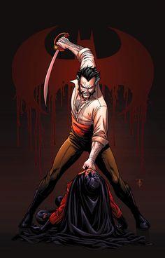 Ra's Al Ghul es un supervillano y enemigo de Batman. Su nombre en árabe significa 'cabeza del demonio'.