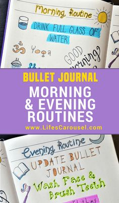 Morning and Evening Routines - Using Your Bullet Journal to start your day Morning and Evening Routines - Using Your Bullet Journal to start your day Sophie bullet journal inspiration Morning & Evening Bullet Journal Routines Bullet Journal Routine, Bullet Journal Hacks, Bullet Journal Printables, Bullet Journal How To Start A, Journal Template, Bullet Journal Spread, Bullet Journal Layout, Bullet Journal Inspiration, Journal Ideas