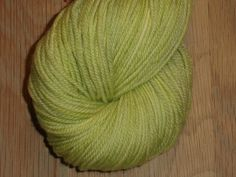 Apple Green 90Y10B 1-4 Superwash Merino - Hand Dyed Yarn - DK Yarn - Apple Green Double Knit 3 Ply Yarn - Apple Green Hand Dyed DK Weight by SussesSpindehjrne on Etsy