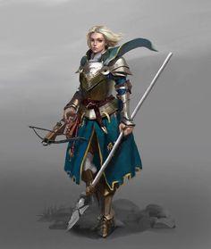 Female human Fighter ranger