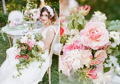 Romantic English garden wedding inspiration   photo by Tonya Joy   Flowers by oak and the owl  100 Layer Cake