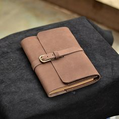 Refillable Leather Journal With Pen Loop Blank by CLWorkshop, $80.00