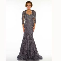 4b92a595e5a Hot Sale Long Lace Mother Dresses 2018 Sweetheart Mermaid Formal Dresses  Custom Made Mother Of The Bride Gown With Jacket