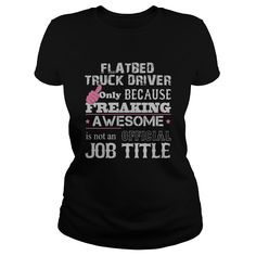 (Tshirt Coupon Today) Awesome Flatbed Truck Driver Shirt Discount Codes Hoodies Tee Shirts