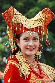 Padang traditional dress. West sumatra.