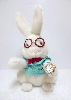 Vintage Alice In Wonderland White Rabbit Plush Stuffed Animal Toy #Target