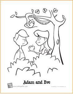 Adam and Eve (Garden of Eden) | Free Printable Coloring Page - MakingArtFun.com
