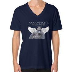 Good-Night, Sweet Harambe V-Neck (on man) Shirt