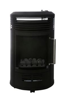 Estufa de gas QLIMA GH8034 · LEROY MERLIN Color Negra, Security Systems, Wood Stoves, Dining Rooms, Steel, Hipster Stuff