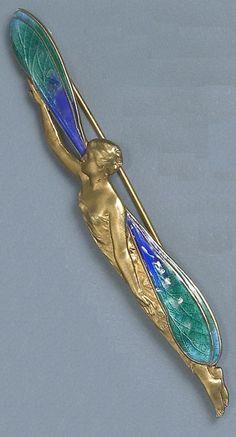 Art Nouveau Brooch by Piel Frères ca.1900