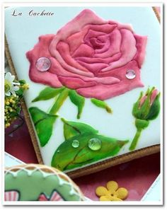 Rose with dew drops, created by La Cachette, posted on Cookie Connection