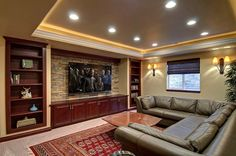 Interesting Basement Home Theater Pics  Including  Basement Entertainment Room Ideas Plus Diy Home Theater System