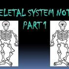 This 18 slide power point presentation introduces the Skeletal System of the human body which can be used in an Anatomy/Physiology class and can also be used in Biology. This is a good beginning of a Skeletal System unit and covers skeletal system functions, bone classification, and anatomical features of long bones, compact bone, and spongy bone.  $