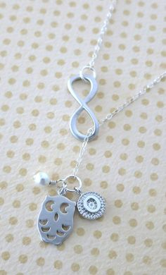 I Love you Forever Night Owl Lariat Y Necklace----> Tell me this isn't something Percy would get Annabeth