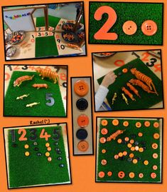 "Counting, number recognition and repeating patterns, inspired by 'The Tiger Who Came to Tea' from Rachel ("",) Jungle Activities, Numeracy Activities, Preschool Activities, Activities For Kids, Nursery Activities, Activity Ideas, Animal Boogie, Early Years Maths, Rumble In The Jungle"