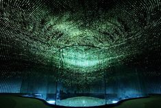 The Seed Cathedral - Shanghai THE SEED CATHEDRAL SHANGHAI The Seed Cathedral stands at 66 feet high and features 60,000 transparent fiber optic rods, each 25 feet long and containing one or more seeds embedded in one end. The outside of the structure resembles a puffy dandelion about to disperse its seeds to the world on the wind. The rods sway and move gracefully with every breeze, giving the impression that the entire monument is alive. But the inside is even more breathtaking. The…