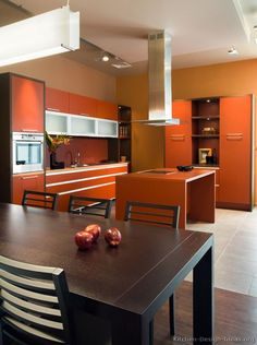 Orange Kitchen Colors 20 Modern Kitchen Design And . 20 Modern Kitchens Decorated In Yellow And Green Colors. Orange Kitchen, Kitchen Colors, Kitchen Interior, Kitchen Decor, Kitchen Cabinetry, Cabinets, Kitchen Pictures, Kitchen Remodel, Retro Kitchens