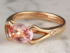 Carved Branch Engagement Ring in Rose Gold with Oval Padparadscha Sapphire Alexandrite Ring, Traditional Engagement Rings, Gemstone Engagement Rings, Alternative Engagement Rings, Pretty Rings, Love Ring, Eternity Ring, Unique Rings, Wedding Jewelry