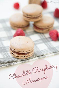 Chocolate Raspberry Macarons | chocolateandcarrots.com