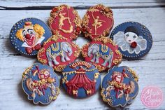 Circus themed cookie set by Maybe a Cookie