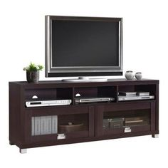 Home TV Stand Cabinet Media Entertainment Center Console Table Wood Furniture for sale online Tv Stand Furniture, Game Room Furniture, Home Theater Furniture, Home Decor Furniture, Furniture Storage, Wood Furniture, Corner Tv Stands, Cool Tv Stands, Espresso Tv Stand