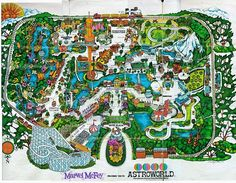 Remember Astroworld, Houston, TX -- I Loved Astroworld:( Astroworld Houston, Theme Park Map, Eyes Of Texas, Texas Treasures, Lone Star State, Six Flags, H Town, Detail Art, Vintage Maps