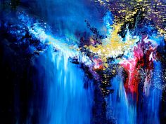 """Etta James's """"At Last"""" - Painted by Melissa Mccracken, an artist with synesthesia (when you see colors when you hear music). She listens to songs then paints what she sees to share with the world her experience. This is the song Drew and I danced to at our wedding. :)"""