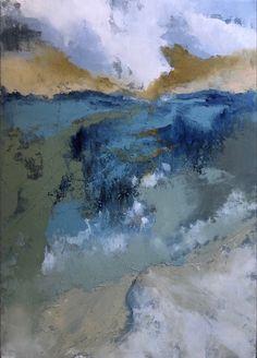 "Oil and cold wax original art by Lori Drew, 12"" x 18"" on 1.5"" wood panel Great Friends, Wood Paneling, New Art, Wander, Original Art, Wax, Coast, Florida, Tours"