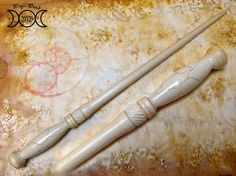 hand carved Cherry wood Magic wand fantasy inspired for cosplay or collecting.