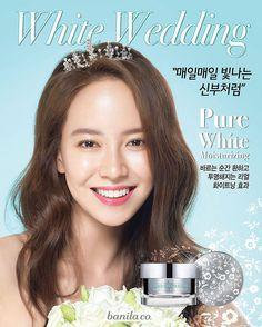 Song Jihyo for Banilaco White Wedding collection AD photo (cr. Banila co. FB)