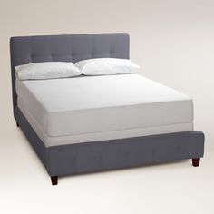 Dove Gray Draper Upholstered Bed | World Market $500