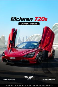 McLaren 720S Spider for rent in Dubai is a car designed to offer enthusiastic drivers an extreme level of road car performance, combining the next level of performance, efficiency, emotion and excitement into a single beautiful, functional whole. Book now for your Dubai Hyper Ride. Call or send a message +971522447777 Sports Car Rental, Spider, Dubai, Cars, Book, Beautiful, Spiders, Autos, Car