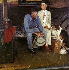 "Norman Rockwell's ""Breaking Home Ties"" sold for a whopping $15.4 million at Sotheby's in 2006."