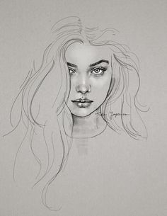 WIP von katiebloo - Zeichnen - Painting Tips Girl Drawing Sketches, Face Sketch, Portrait Sketches, Pencil Art Drawings, Realistic Drawings, Portrait Art, Portraits, Arte Sketchbook, Drawing People