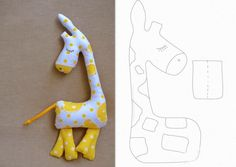 cute giraffe and cat with patterns Sewing To Sell, Sewing Art, Sewing Toys, Baby Sewing, Sewing Crafts, Sewing Projects, Fabric Animals, Sock Animals, Handgemachtes Baby