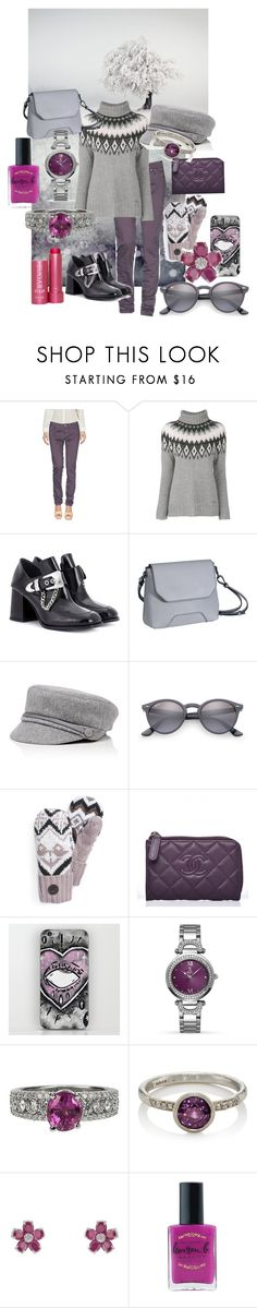 """""""woolrich sweater"""" by erggoe ❤ liked on Polyvore featuring Jeckerson, Woolrich, McQ by Alexander McQueen, Monteneri, Eugenia Kim, Ray-Ban, Muk Luks, Allurez, Malcolm Betts and BLVD Supply"""