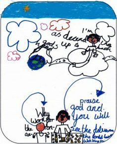 picture about pentecost, drawn by child as part of BrixKidz picture preachers competition www.brixkidz.org