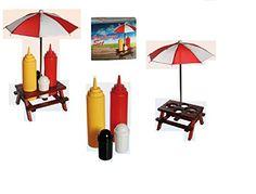 Salz und Pfeffer Streuer mal anders Gewürzhalter Holz-Picknicktisch , mit Sonnenschirm, Kunststoff-Salz- & Pfefferstreuer, Senf- & Ketchup-Flasche ideal für die Grillsaison- ein echter Hingucker Bavaria Home Style Collection http://www.amazon.de/dp/B01ATIH37U/ref=cm_sw_r_pi_dp_YeMNwb00NXB6D