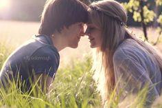backlit sunny kiss