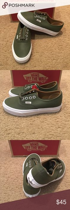 Premium Leather Authentic Decon Vans New in box. Grape leaf Vans Shoes Sneakers
