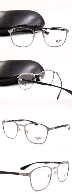 2bfaa17fb8905 Eyeglass Frames  Ray-Ban Rb 6357 2553 Eyeglasses Optical Frames Glasses  Silver Black 51Mm