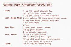 Caramel Apple Cheesecake Cookie Bars