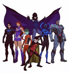 regram @philbourassa Teen Titans lineup from Justice League vs Teen Titans. Coming Spring 2016!  #teentitans #justiceleaguevsteentitans  #dccomics #dcentertainment #animation #cartoons #robin #starfire #bluebeetle #cyborg #raven #nightwing #beastboy