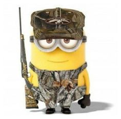 Duck Dynasty hunting camo Minion minions despicable me. My son loves this! Minions Love, Minions Despicable Me, My Minion, Minion Stuff, Minion Talk, Hunting Humor, Hunting Gear, Hunting Stuff, Camo Stuff
