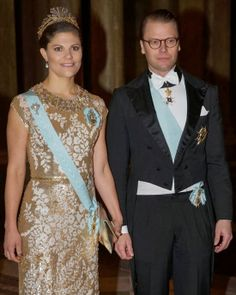 MYROYALS &HOLLYWOOD FASHİON: Crown Princess Victoria and Prince Daniel attended an official dinner at the Royal Palace, Stockholm, Sweden, November 3, 2013