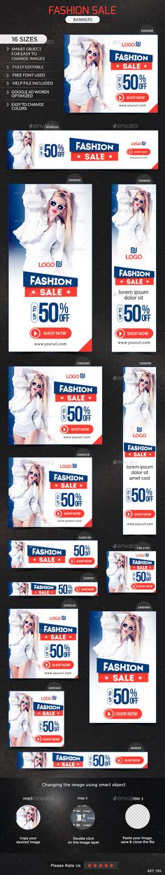 Fashion Sale Banners Template #design Download: http://graphicriver.net/item/fashion-sale-banners/11886514?ref=ksioks
