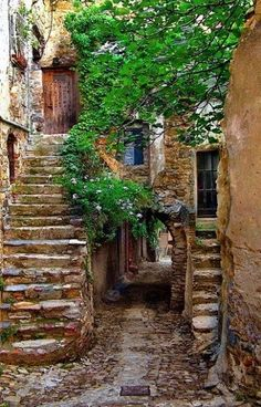 Provence, France ~ old architecture is cool! Places Around The World, The Places Youll Go, Places To Go, Around The Worlds, Belle France, Beaux Villages, France Photos, Provence France, Stairway To Heaven